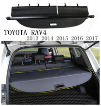 Rear Trunk Security Shield Cargo Cover For TOYOTA RAV4 2013 2014 2015 2016 2017 2018 High Qualit Black Beige Car Accessories(China)