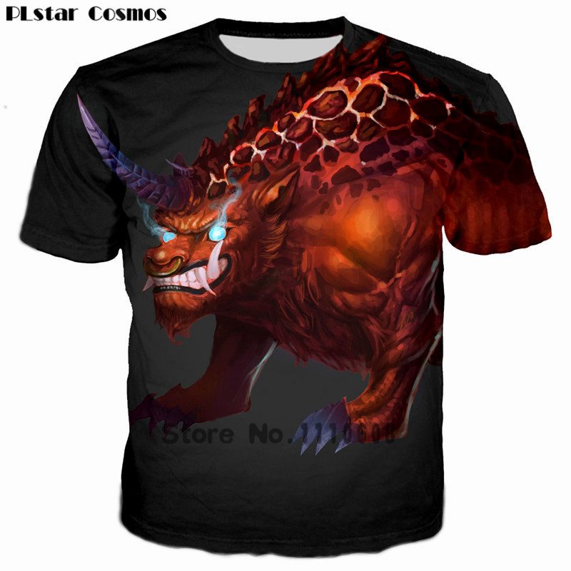PLstar Cosmos 2018 New Design Blue Eyes Unicorn 3D Print T-shirt Women/Men Streetwear tshirt Summer Kids T shirt Plus size 5XL