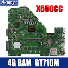 Материнская плата ноутбука Amazoon X550CC для ASUS A550C X550CL R510C тестовая оригинальная материнская плата 4G ram I3 cpu GT710M