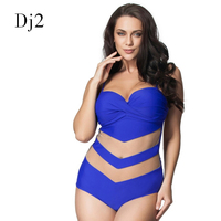 L 6XL Plus Size Swimwear One Piece Swimsuit Summer Holiday Bathing Suit Transparent Lace Swim Wear