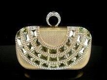 12106G Kristall Gold knuckels Ring Hochzeit Bridal Party geldbörse handtasche handtasche fall IN KOSTENLOSER VERSAND