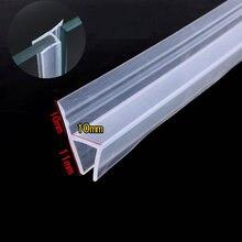 Уплотнитель для витрины 10 мм стеклянный экран раздвижной створки для душевой двери уплотнитель для окна силиконовая прокладка 50 м h