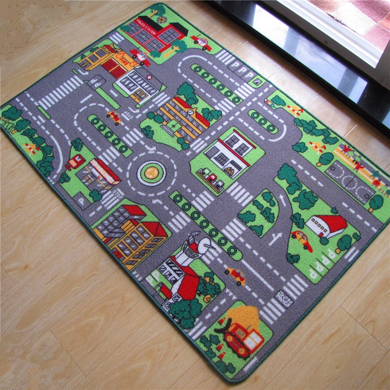 Hot Sale Car Racing Road Pattern Baby Play Mats Developing Crawling Rug Carpet Educational Toys For Kids Game Home Room Decor dinosaur world jurassic park scene play mat kids