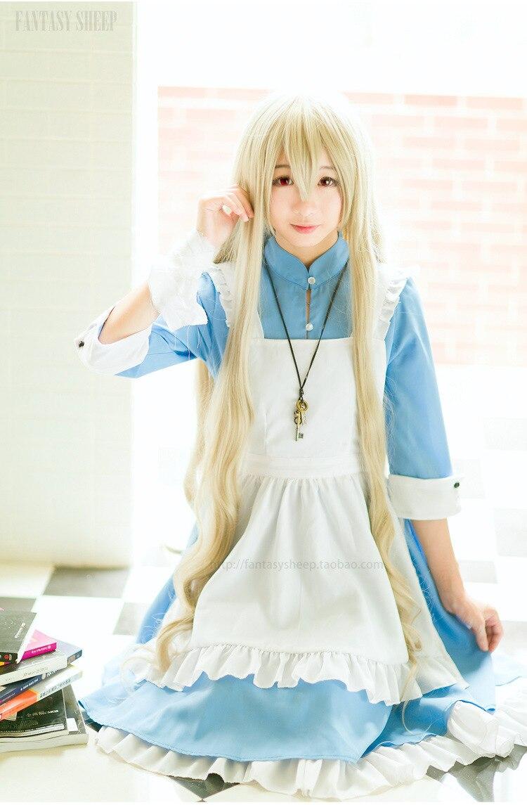Love live Snow Elsa Queen principessa dress anime cosplay Alice fancy qualita para festa fantasia feminina Fancy maid dress