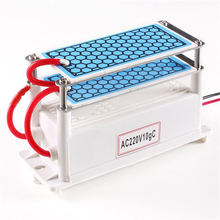 Portable Ceramic Ozone Generator 220V/110V 10g Double Integrated Long Life Ceramic Plate Ozonizer Air Water Air Purifier