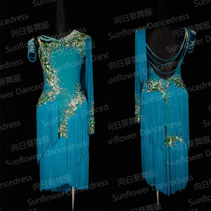 NEW Rumba Jive Chacha Latin Dance Dress,tango Salsa Samba Dance Dress, Latin Dance Wear ,dress Latina,Sunflower Dance Dress