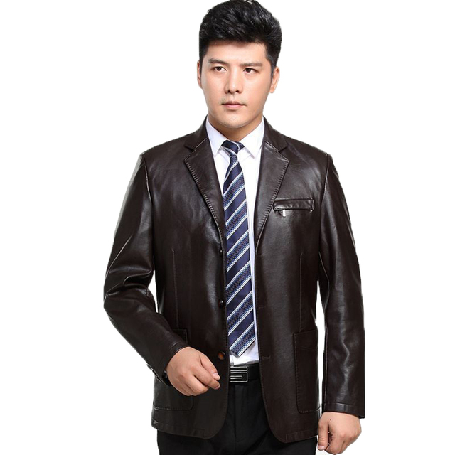 Spring Autumn Man Faux Sheep Leather Jackets Black Brown PU Leather Coats Men Elegance Slim Fit Fur Jacket Tailored Veste Cuir