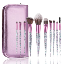 10pcs Rhinestone Crystal Glitter Makeup Brushes Set Pro Foundation Brushes Blending Concealer Make Up Brush Set Dropshipping