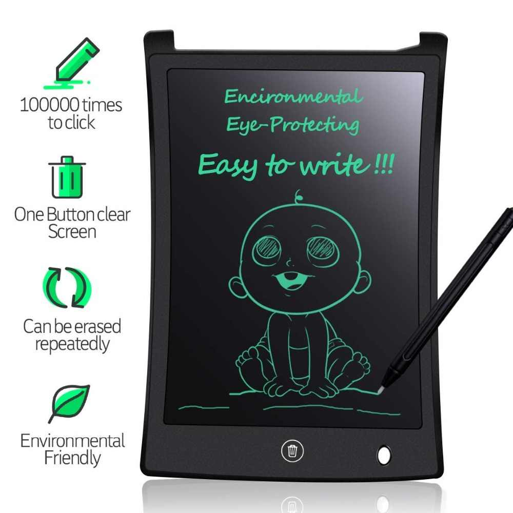 One-Click Delete Color Drawing Board Touch Office Children Memo 9.7 Inch LCD Writing Board//Light Energy Small Blackboard Red