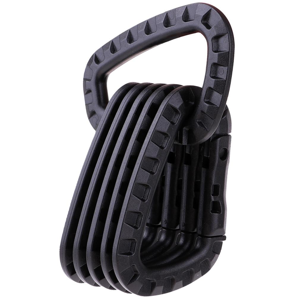 Image 2 - 6Pcs Tactical D Shape Carabiner Keychain Carabina Karabiner Clip Plastic Cadet Hiking Camping Climbing Accessories-in Climbing Accessories from Sports & Entertainment