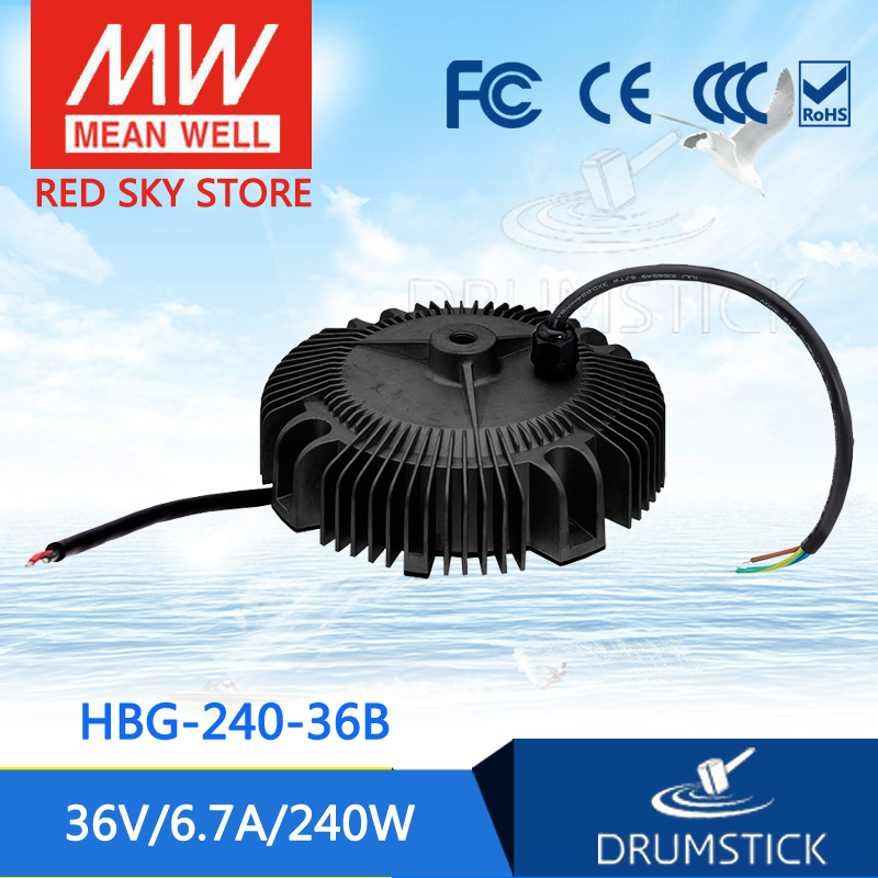 Hot sale MEAN WELL HBG-240-36B 36V 6.7A meanwell HBG-240 36V 240W Single Output LED Driver Power Supply [ba]mean well original hbg 240 48a 1pcs 48v 5a meanwell hbg 240 48v 240w single output led driver power supply