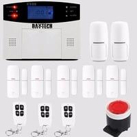 DAYTECH GSM Alarm System With LCD Display Siren PIR Motion Sensor Wireless Zones Remote Control Wireless