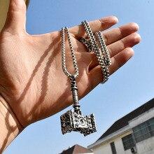 Байер 316L нержавеющая Викинг норвежский Odin Thors Mjolnir молоток для мужчин от Quake ожерелье кулон животное Викинг ювелирные изделия LP366