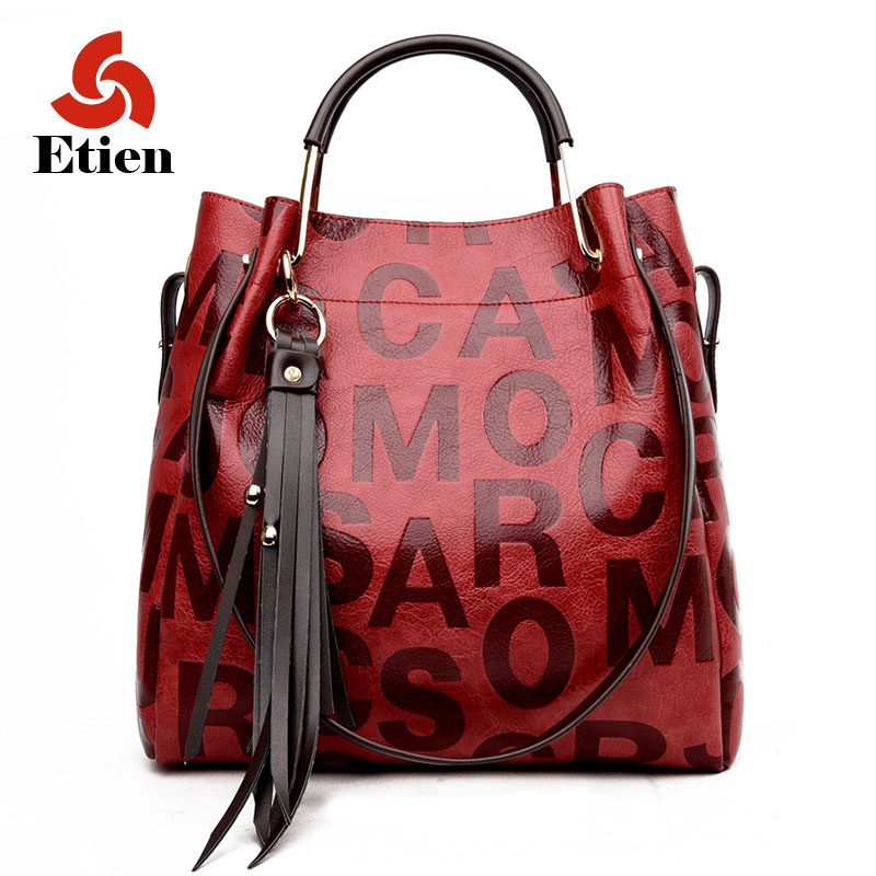 2017 new fashion split leather Women bags
