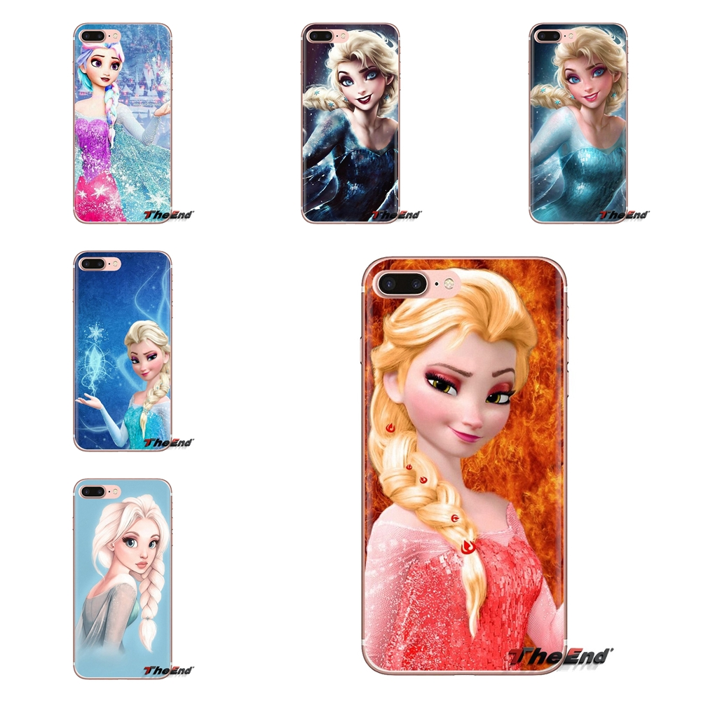 For Samsung Galaxy J1 J2 J3 J4 J5 J6 J7 J8 Plus 2018 Prime 2015 2016 2017 girl Punk Elsa Anna Tattoo Princess Mobile Phone Cover