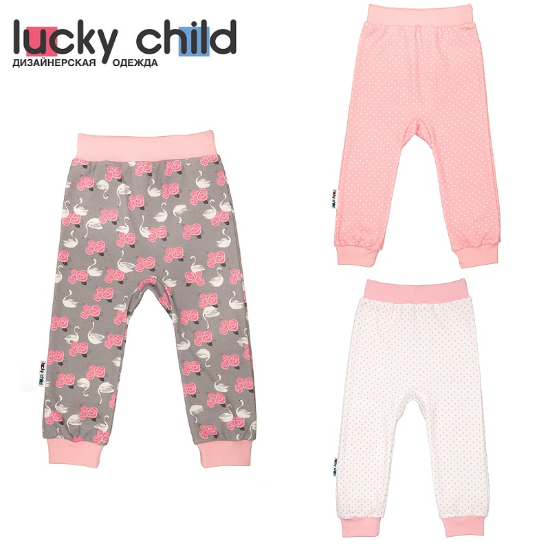 Pants Lucky Child for girls A2-111 Swans Leggings Baby Children clothes kids newborns russia