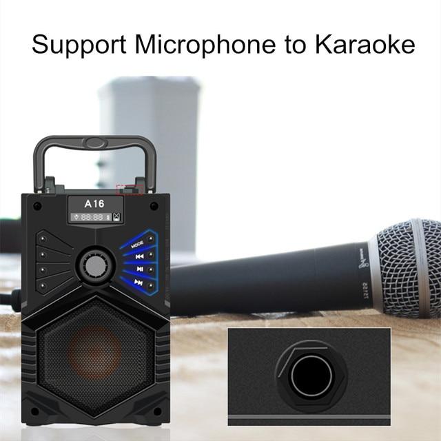 HYASIA Wireless Bluetooth Speaker Stereo Subwoofer Bass Speakers Column Soundbox Support FM Radio TF AUX USB Remote Control 1