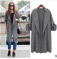 2017 primavera nueva chaqueta de diseño de abrigo Largo Más El Tamaño de Las Mujeres otoño primavera Abrigos Chaquetas tallas grandes gris ocasional outwear viento chaqueta