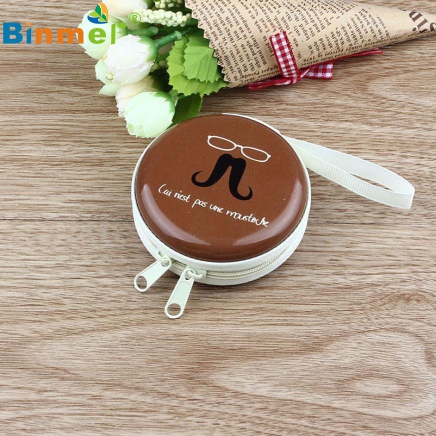 Beautiful Gift New Coffee Mini Zipper Earphone Headphone SD Card Bag Box Carrying Pouch Storage Wholesale price Feb17