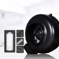 4 Inch Inline Exhaust Fan Blower Centrifugal Fan & Carbon Air Filter Ducting for Grow Kits Growing Greenhouse Duct Fan