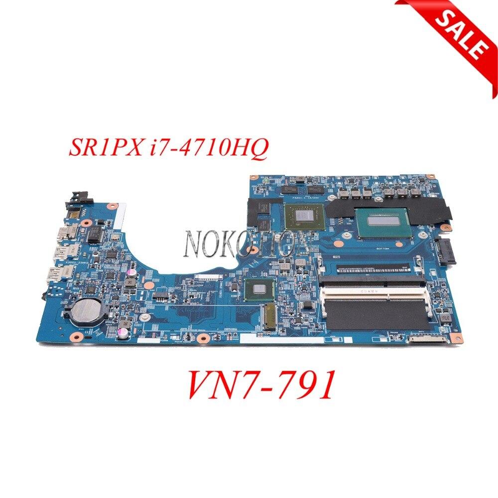 NOKOTION NBMQR11008 NB. MQR11.008 448.02G07.001M mère D'ordinateur Portable pour Acer VN7-791 GTX850M SR1PX I7-4710HQ carte Principale plein travail