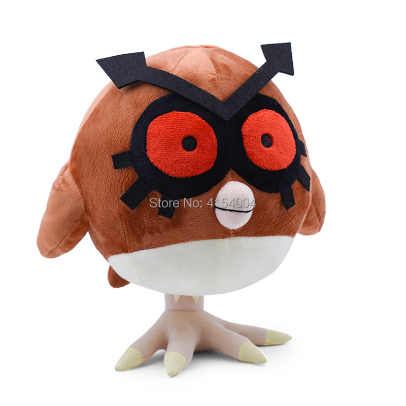 Anime Cartoon Detective Pikachu Hoothoot Plush Peluche Stuffed Dolls kawaii Toy Great Christmas Gift For Children in Movies TV from Toys Hobbies