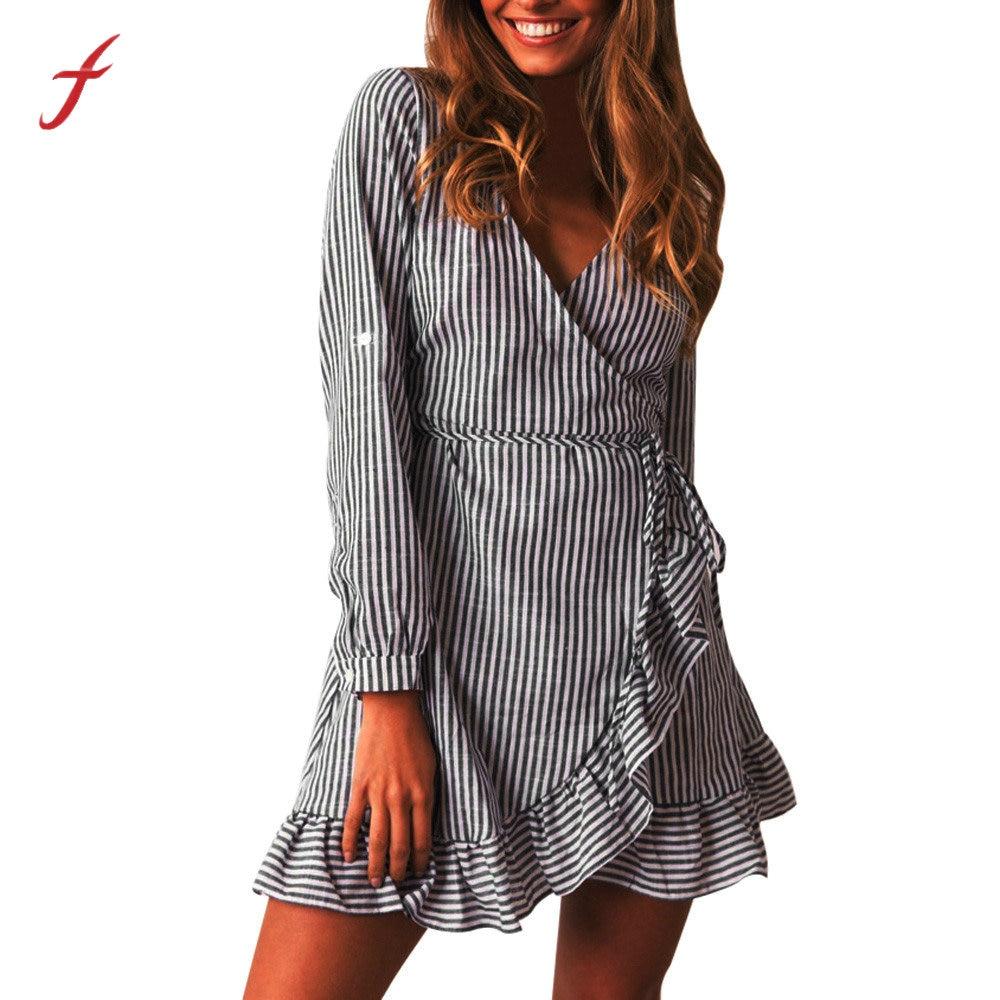 21b20193f Galeria de cheap striped dresses por Atacado - Compre Lotes de cheap  striped dresses a Preços Baixos em Aliexpress.com