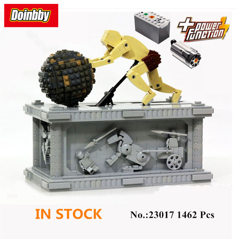 LEPIN 23017 Technic Series The MOC Sisyphus Moving with Motor Building Block Bricks Toys 1462Pcs Kids Gifts 1518 new lepin 23017 1462pcs movie series moc le mythe de sisyphe building blocks bricks to holiday toys gift