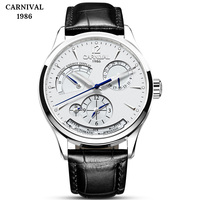 CARNIVAL Kinetic energy dual time display Mechanical Watches Men Top Luxury Brand Watch Sports Automatic Sapphire Waterproof Men