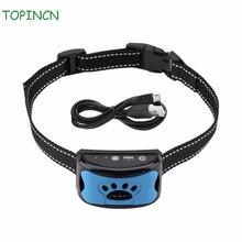 Водонепроницаемое устройство управления лаем для собак перезаряжаемый ошейник с защитой от лай Регулируемый 7 уровней чувствительности ошейники для дрессировки собак