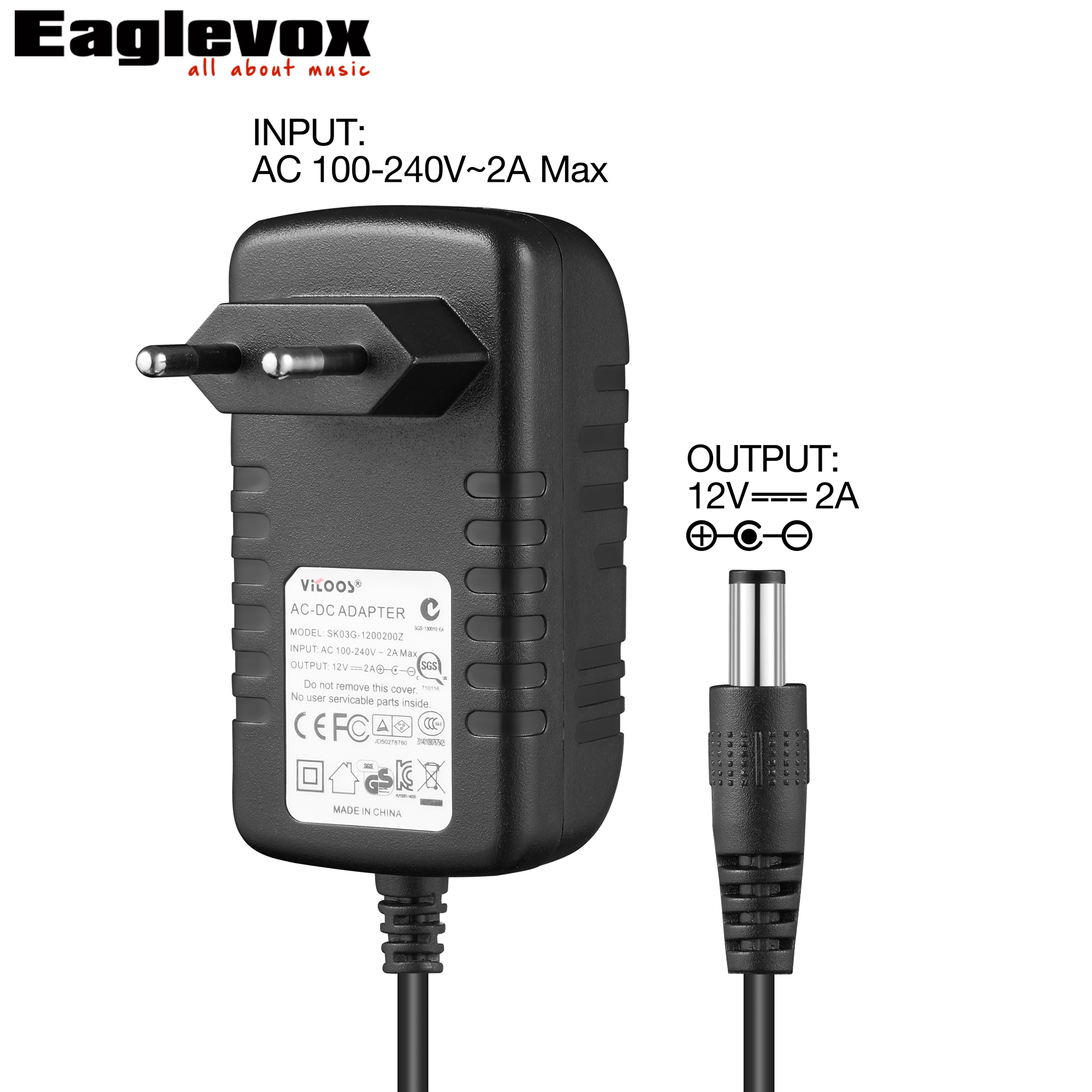 12V 2A Power Adapter Negative Center 100-240V Converter Noiseless Technology for Guitar Effect Pedal AU Plug I Type Power Supply 2 set lot neutrik powercon type a nac3fca nac3mpa 1 chassis plug panel adapter