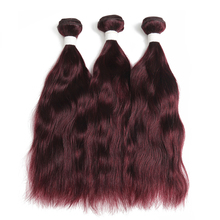 99J/Burgundy Natural Wave Human Hair Weaves Bundle  2/3/4 PCS Brazilian Human Hair Extensions NonRemy Red Hair Bundes