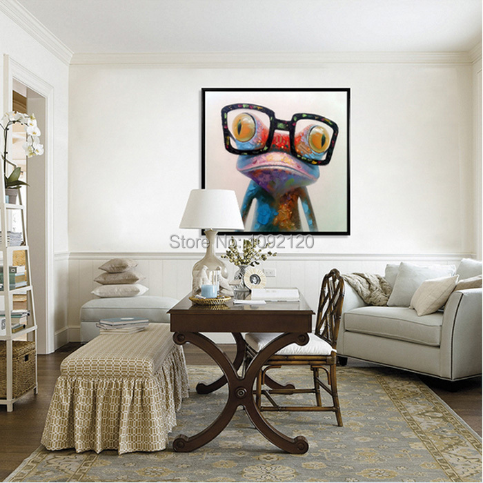 Hand Painted Hot Sell Low Price Wall Art Home Decoration Doctor Frog Living Room Decor Unique