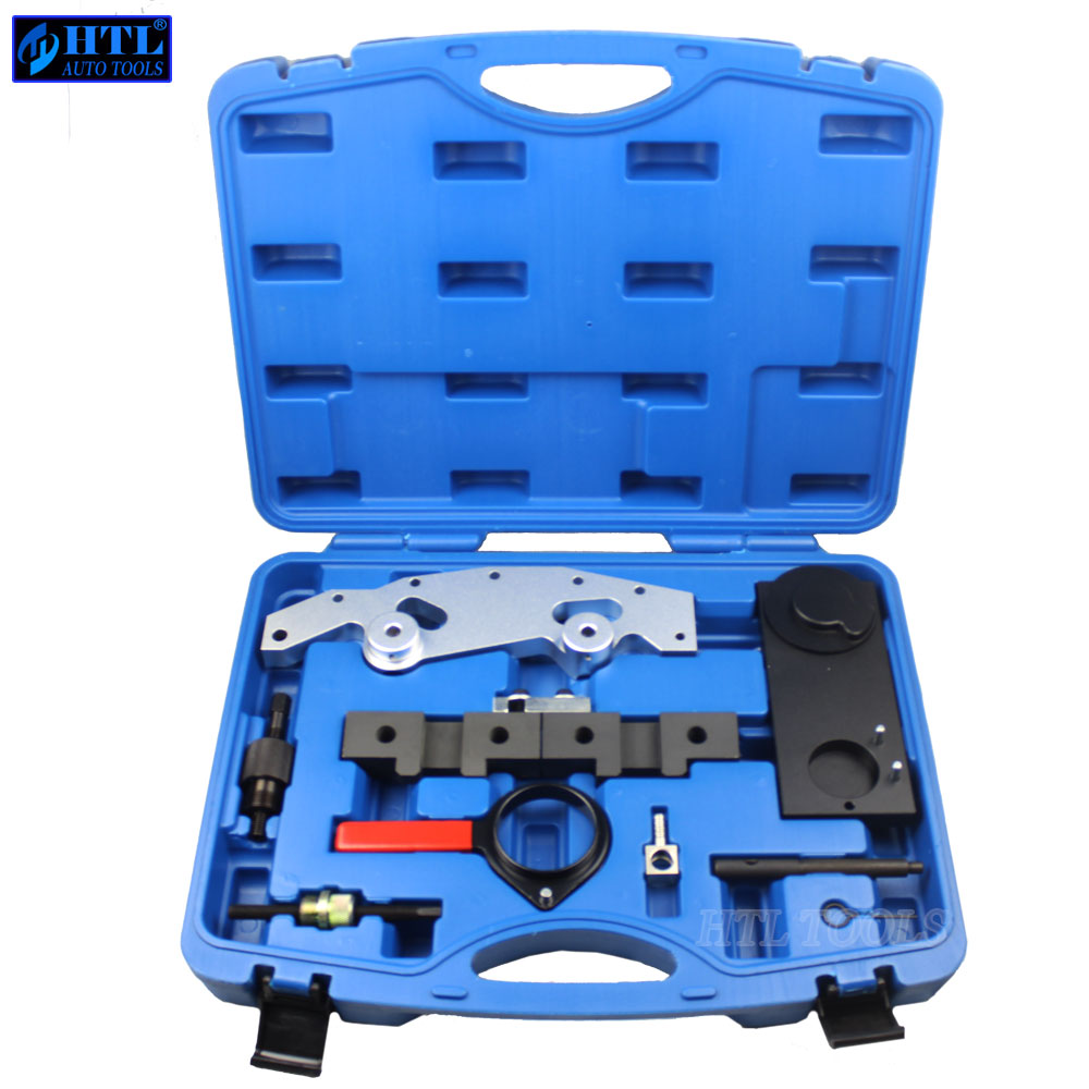 Camshaft Alignment Engine Timing Locking Tool Master Set Double Vanos For BMW M52TU M54 M56 engine timing tool set for freelander v6 rover kv6 rover land rover 2 0 2 5l timing camshaft alignment tool special belt tool