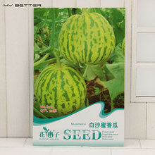 Original Package Fruit Seeds Baisha Honey Muskmelon Seeds Mature Flowering 70 days 20 Particles Seeds / Bag
