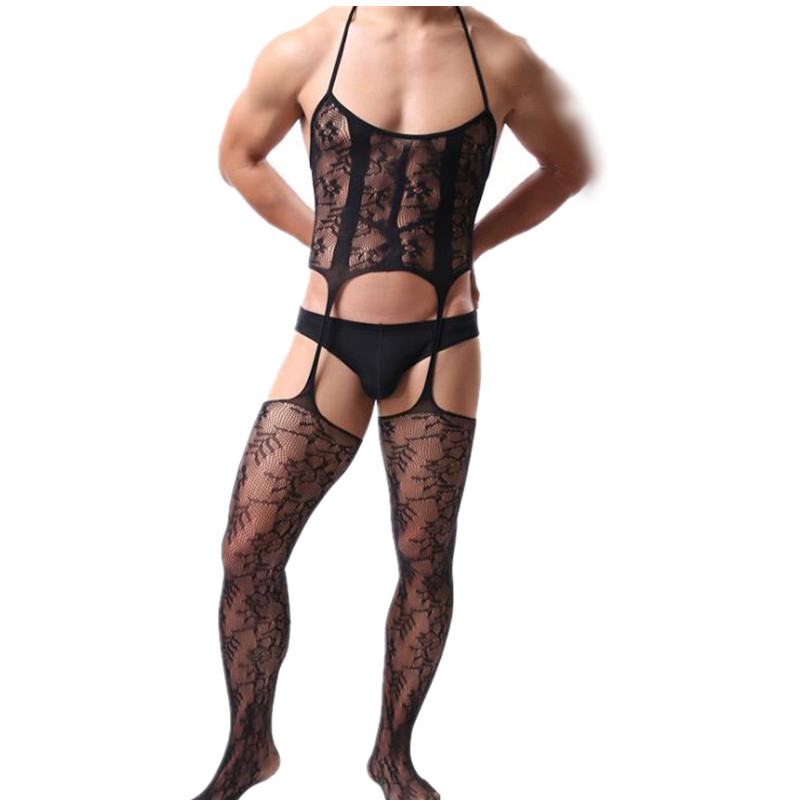 Stocking Bodysuit Underwear Costumes Intimates Sexy Lingerie Hot-Sexy Hose Exotic Men