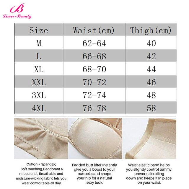 Lover Beauty Women Tummy Control Shaper Butt Lifter Enhancer Padded Underwear Body Shaper Seamless Plus Size Buttock Underwear 6