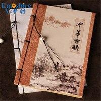 الصين القديمة شيك الجملة القرطاسية دفتر خمر للرسم المشهد النمط الصيني دفتر سلك المفكرة N335