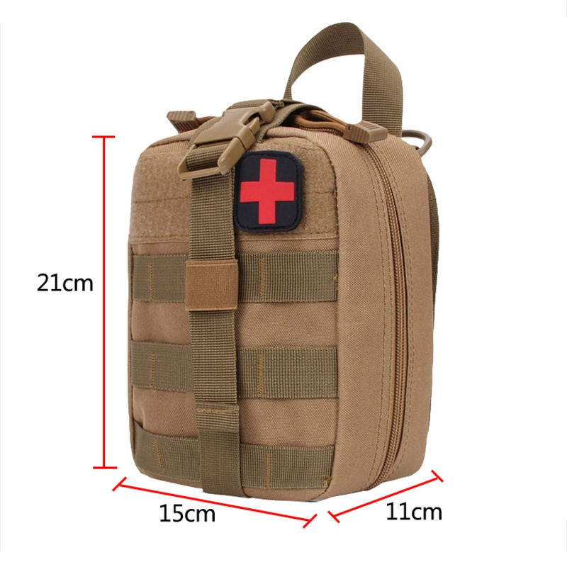 Portable Outdoor Hunting Medical Cover Hunting Emergency Survival Package Utility Tactical Pouch Medical First Aid Kit Patch Bag