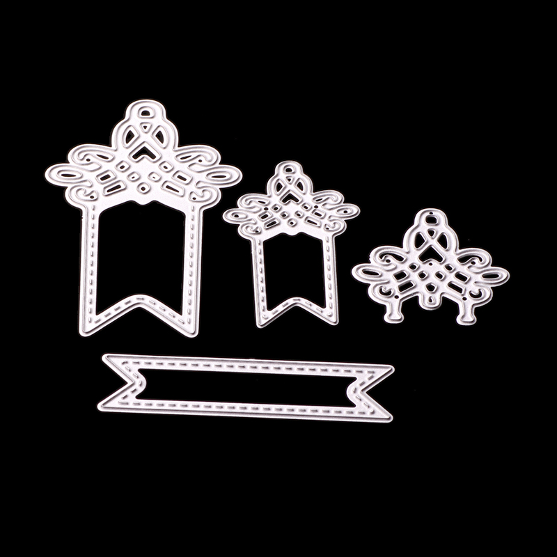 ABOOM 4PCS/Lot Irregular Design Knot Pattern Cutting Dies Decorative Paper Card Making For Die Cut Scrapbooking Album Decoration