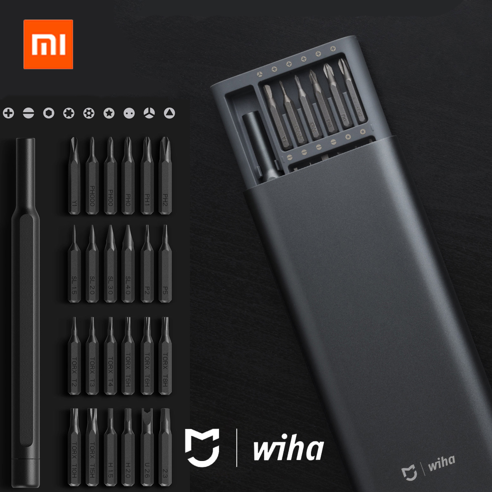 100 Xiaomi Mijia Wiha Daily Use Screw Driver Kit 24 Precision Magnetic Bits Alluminum Box Screw