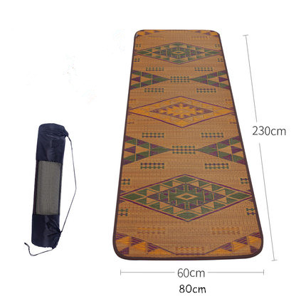 Rush Floor Mat for Yoga, Pilates, Stretching, Meditation, Buddhism,Floor & Fitness Exercises Rectangle Tatami Mat with Carry Bag