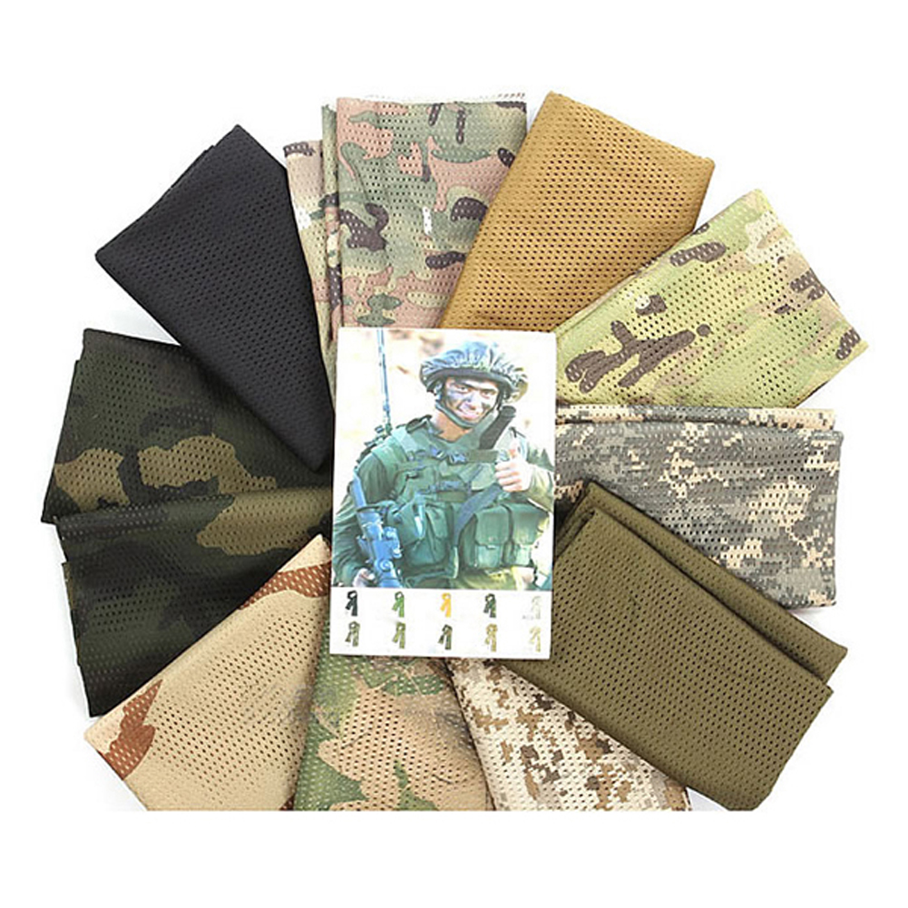 Scarves Military Army-Green Neckerchief Outdoor Mesh Unisex Veil for Activities And War-Game