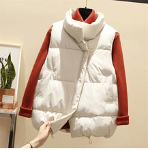 New Vest Female Winter Casual Sleeveless Jacket Warm Women Loose Oversized Ladies Waistcoat Thick Q1768
