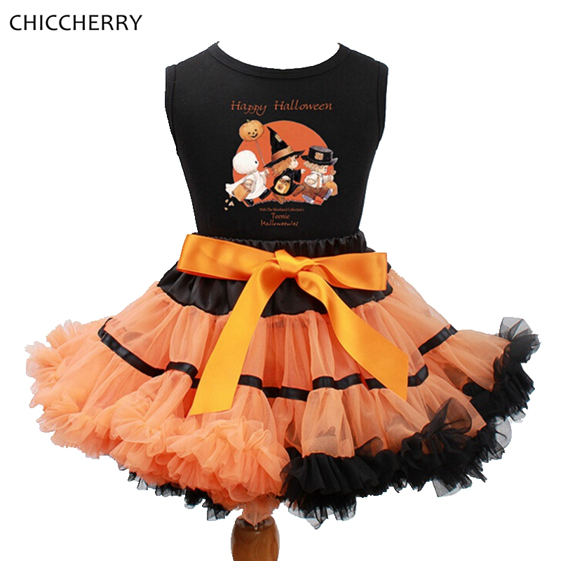 little witches happy halloween costume for kids clothes baby tops lace tutu skirt roupas infantis - Clothes Halloween