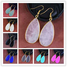 100-Unique 1 Pair Light Yellow Gold Color Water Drop Earrings Elegant Womens Earring Personalized Jewelry