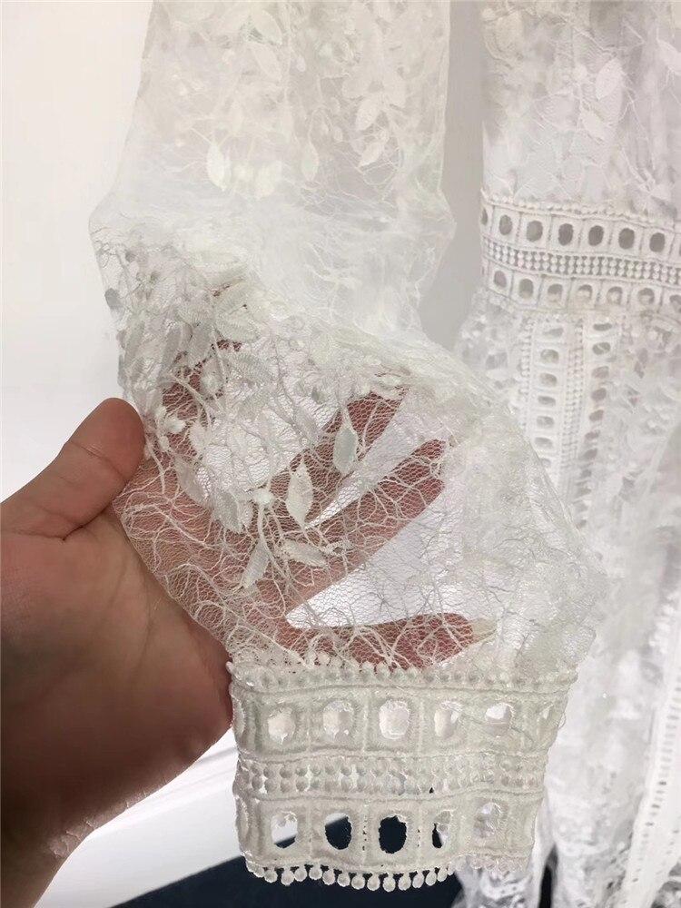 Robes Nouveau Broderie Blanc Fête Fomolayime L'eau Mode Femmes Fleur Tenue Printemps De Soluble Dans 2019 qzGSUVLpM