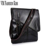 VM FASHION KISS Genuine Leather Men S Business Casual Messenger Bag Oil Wax Leather Shoulder Bags