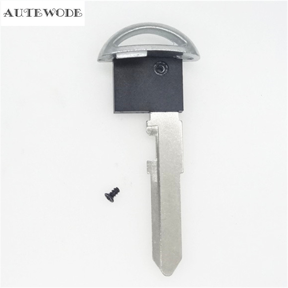 AUTEWODE New REplacement Car Key smart Shell for Mazda Key case blank cover auto parts uncut blade 1pc