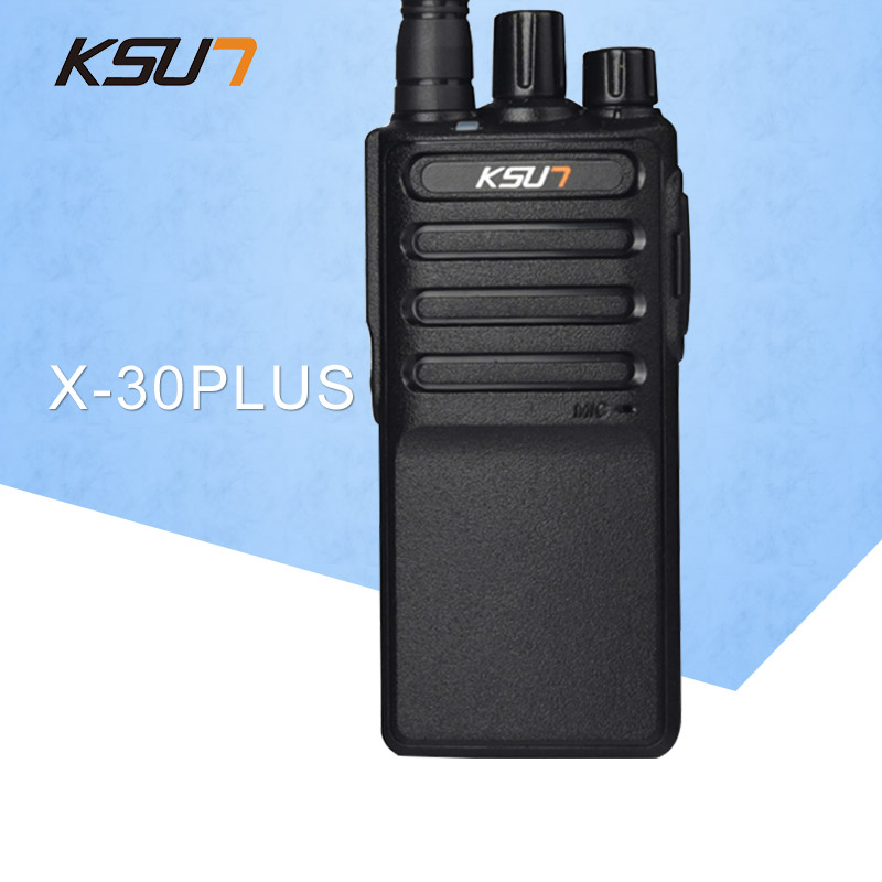 Free Shipping New KSUN X-30PLUS Portable Radio Walkie Talkie 5W 16CH UHF Two Way Radio Interphone Transceiver Mobile